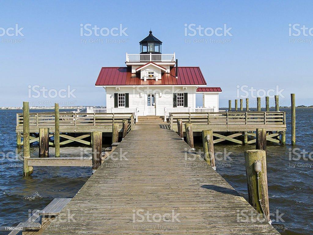 Roanoake Marshes Lighthouse royalty-free stock photo