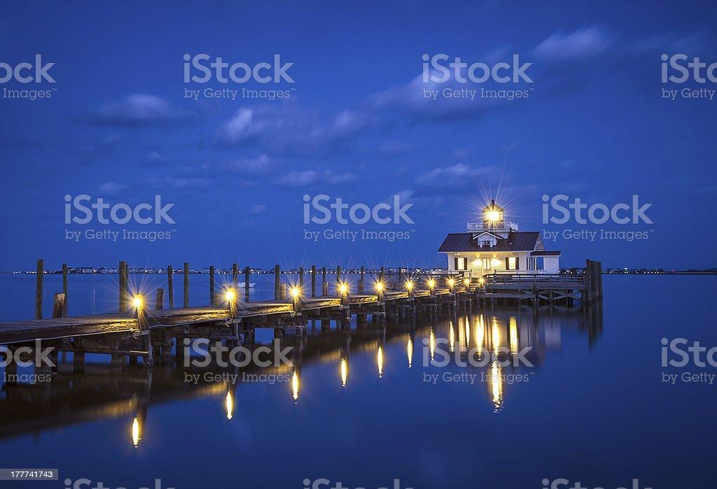Roanoke Marshes Lighthouse Manteo NC Outer Banks North Carolina stock photo