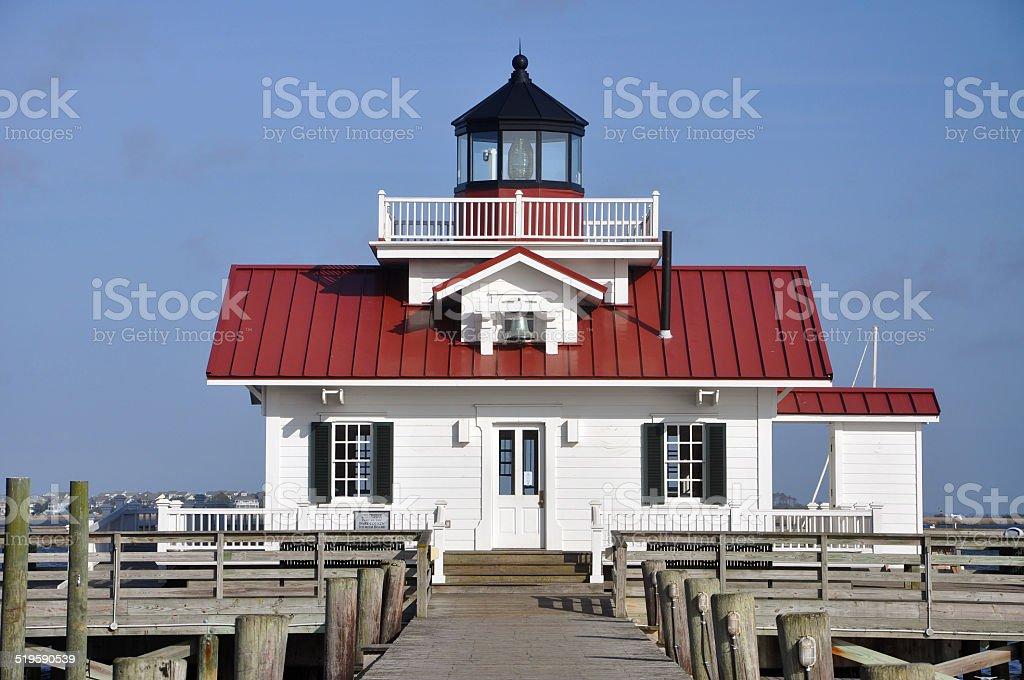 Roanoke Marshes Lighthouse, USA stock photo