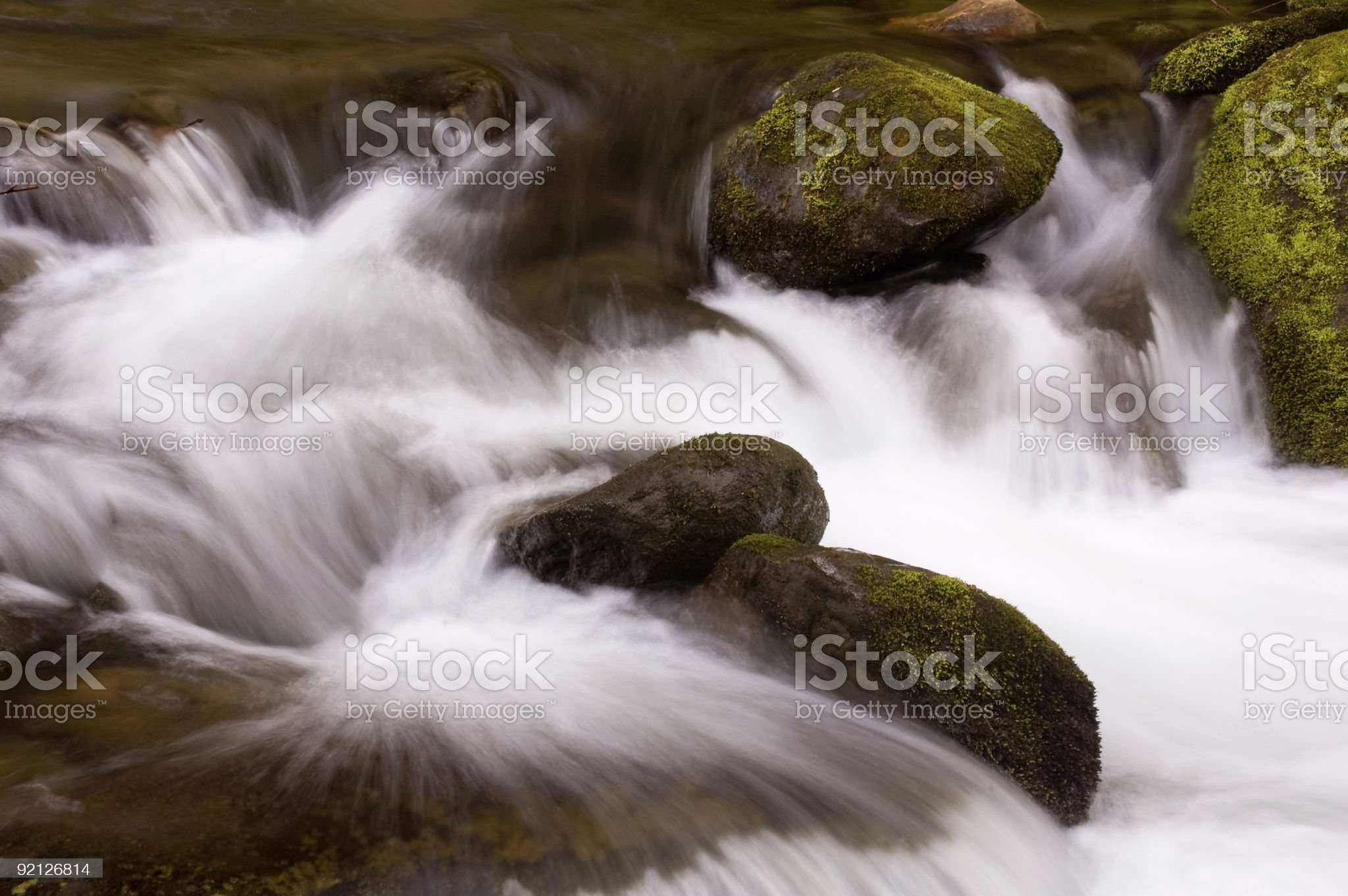 Roaring Forks Motor Trail Whitewater royalty-free stock photo