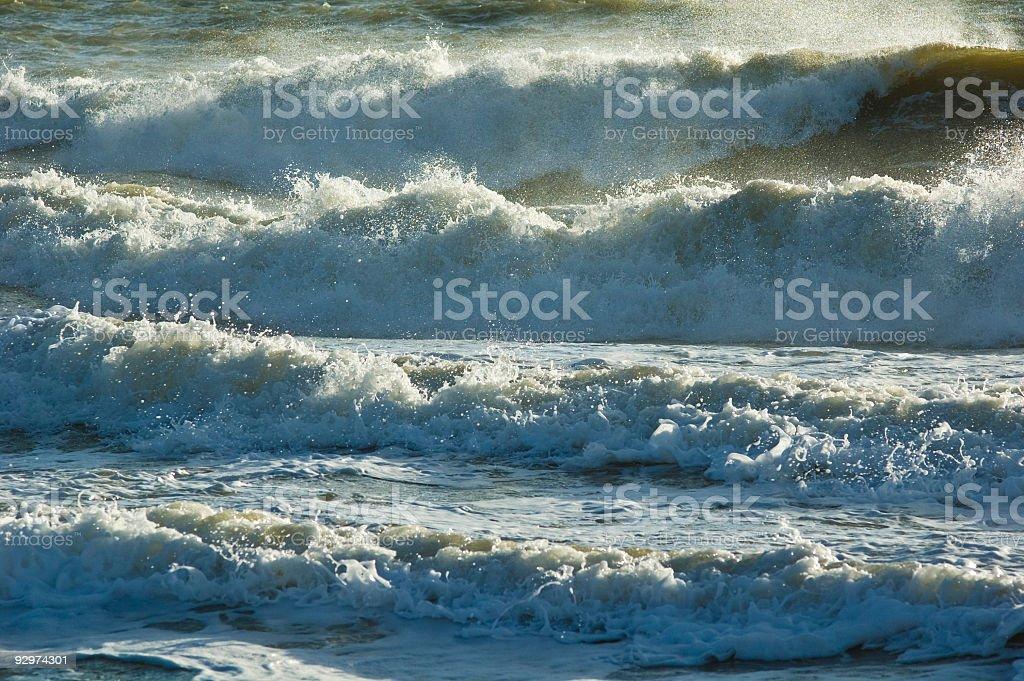 Roaring surf! stock photo