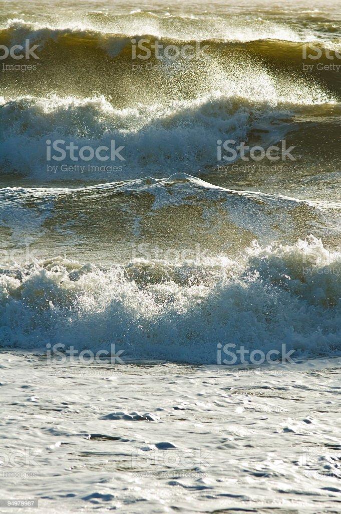 Roaring surf, white spray stock photo