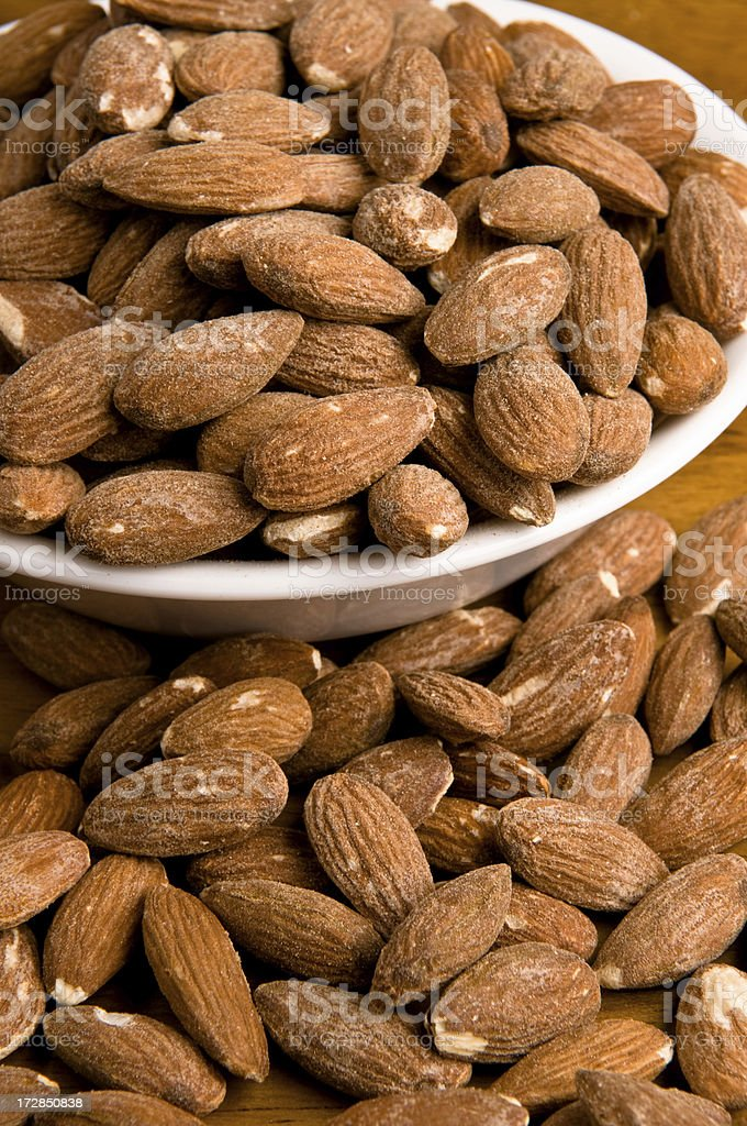 Roast and Salted Almonds royalty-free stock photo