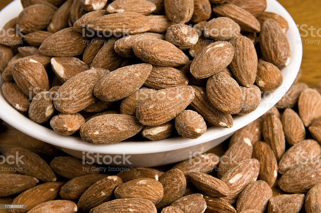 Roast and Salted Almonds stock photo