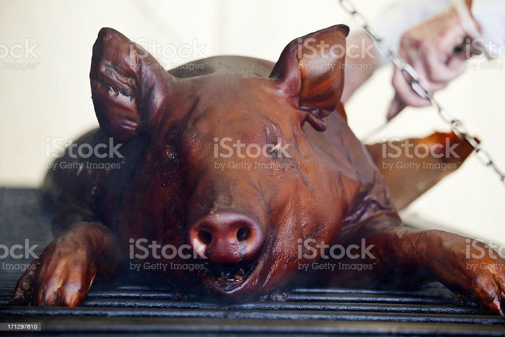 Roast BBQ Pig royalty-free stock photo