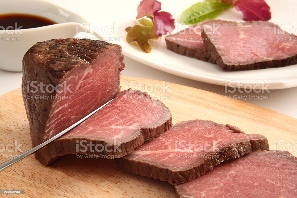 roast beaf stock photo