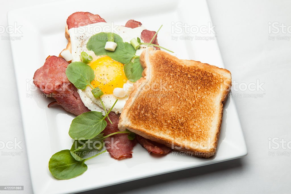 Roast beef and egg sandwich royalty-free stock photo