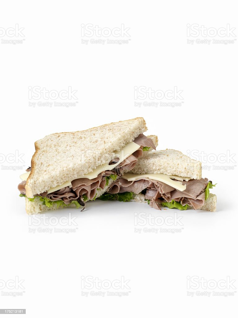 Roast Beef and Swiss Sandwich royalty-free stock photo