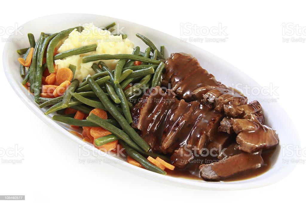 Roast Beef and Vegetables royalty-free stock photo