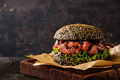 Roast beef Burger with sliced Pastrami