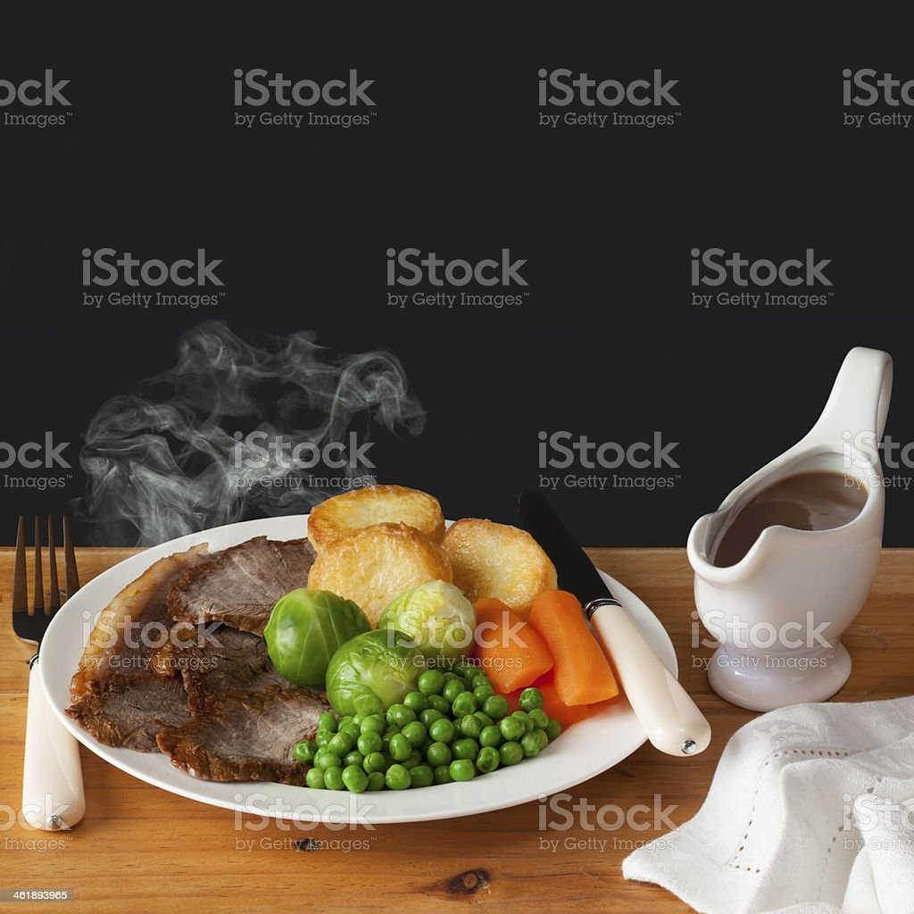 Roast Beef Concept stock photo
