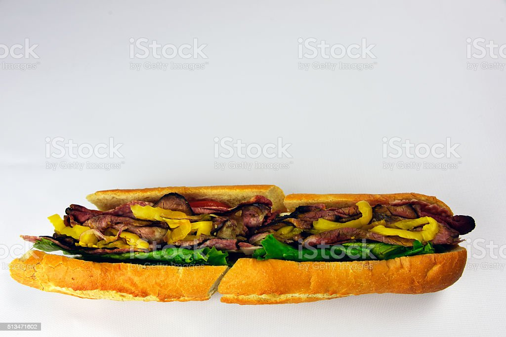 Roast Beef Deli Hoagie royalty-free stock photo
