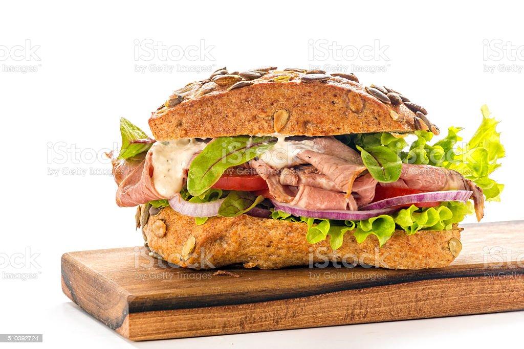 Roast Beef Deli Sandwich stock photo