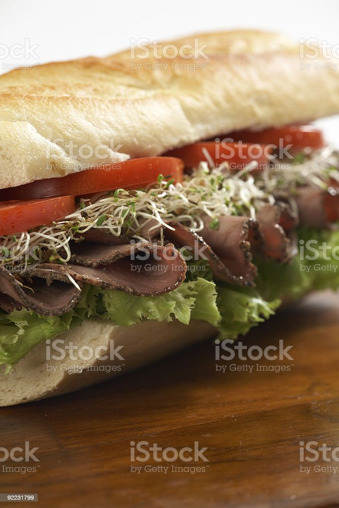 Roast Beef  Deli Sandwich royalty-free stock photo