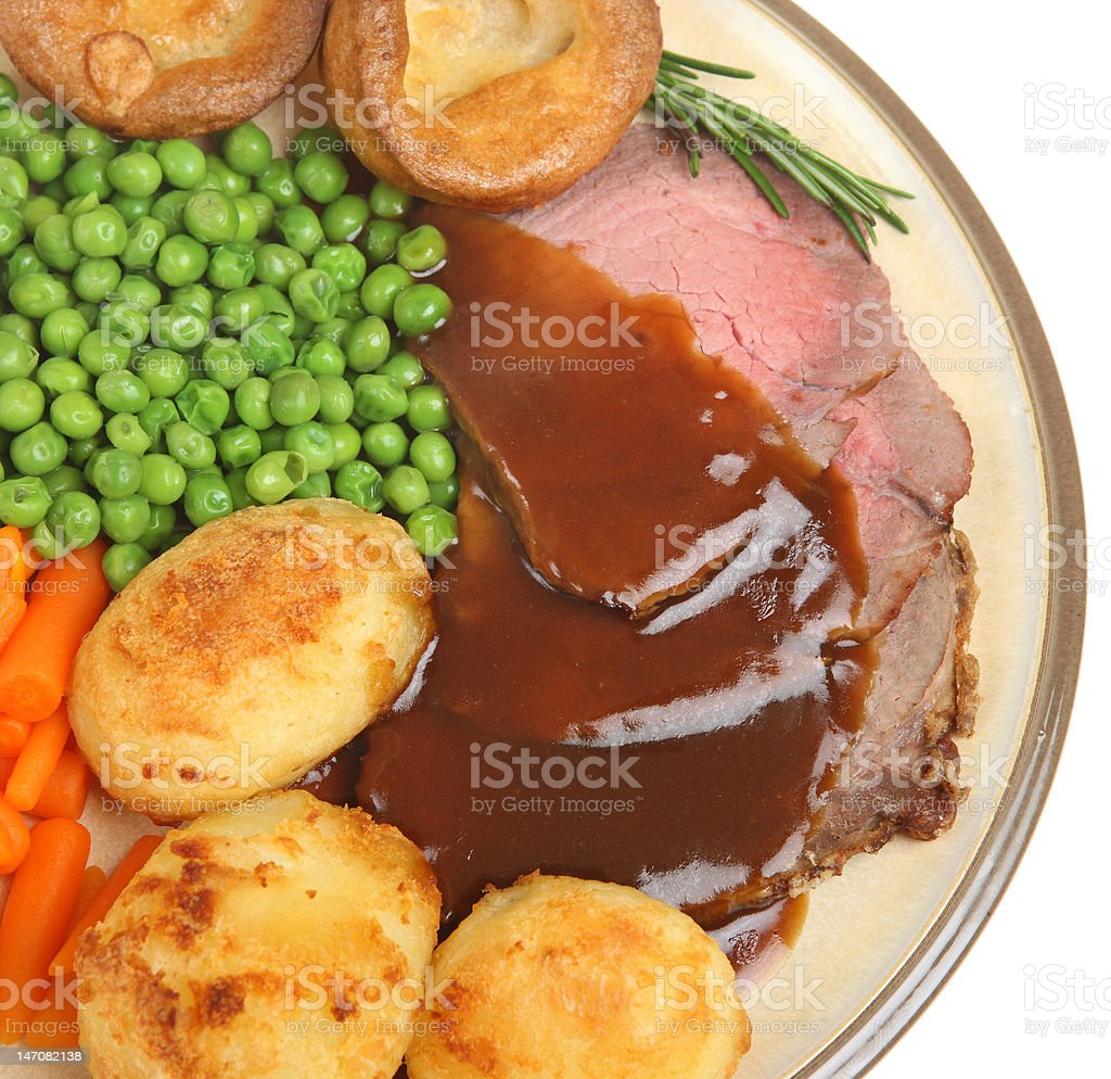 Roast Beef Dinner royalty-free stock photo