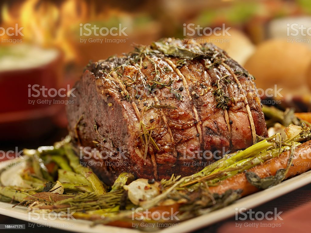 Roast Beef Dinner royalty-free stock photo