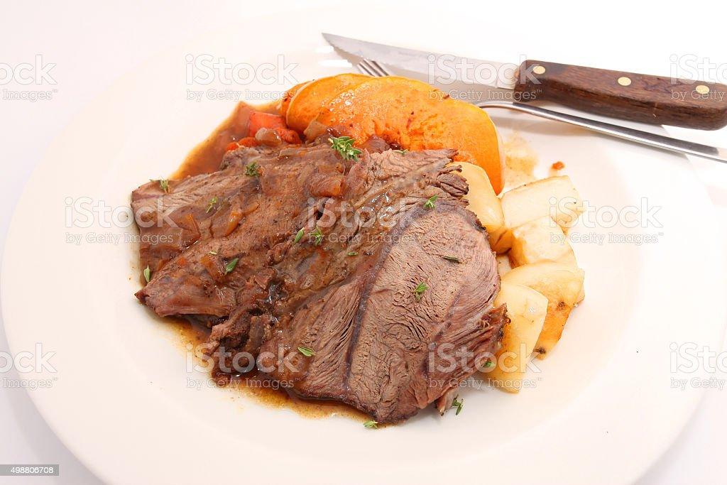 Roast beef joint stock photo