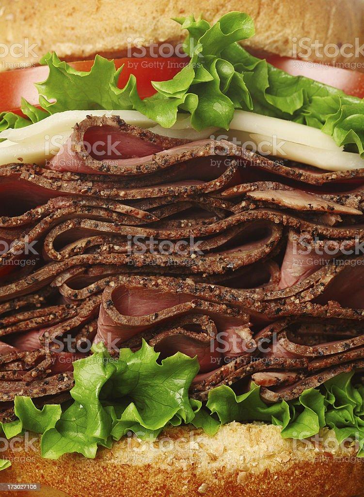 Roast beef manwich royalty-free stock photo