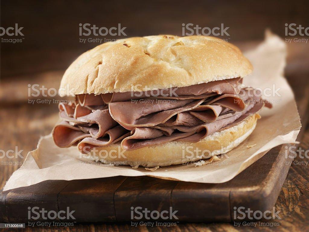 Roast Beef Sandwich royalty-free stock photo