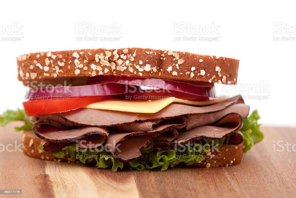 Roast beef sandwich stock photo