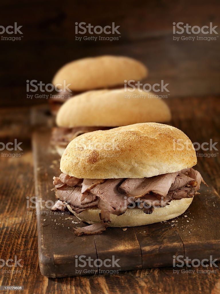Roast Beef Sandwiches royalty-free stock photo