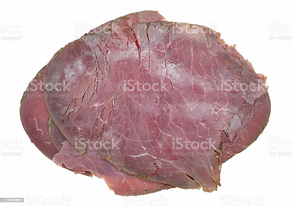 roast beef slices stock photo