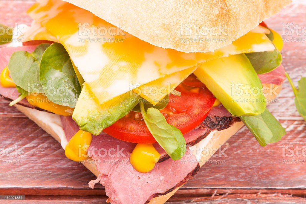 Roast beef with a twist royalty-free stock photo