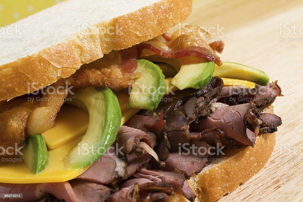 Roast Beef with Avocado royalty-free stock photo