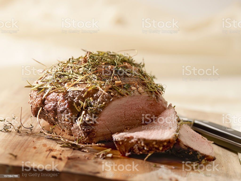 Roast Beef with Rosemary royalty-free stock photo