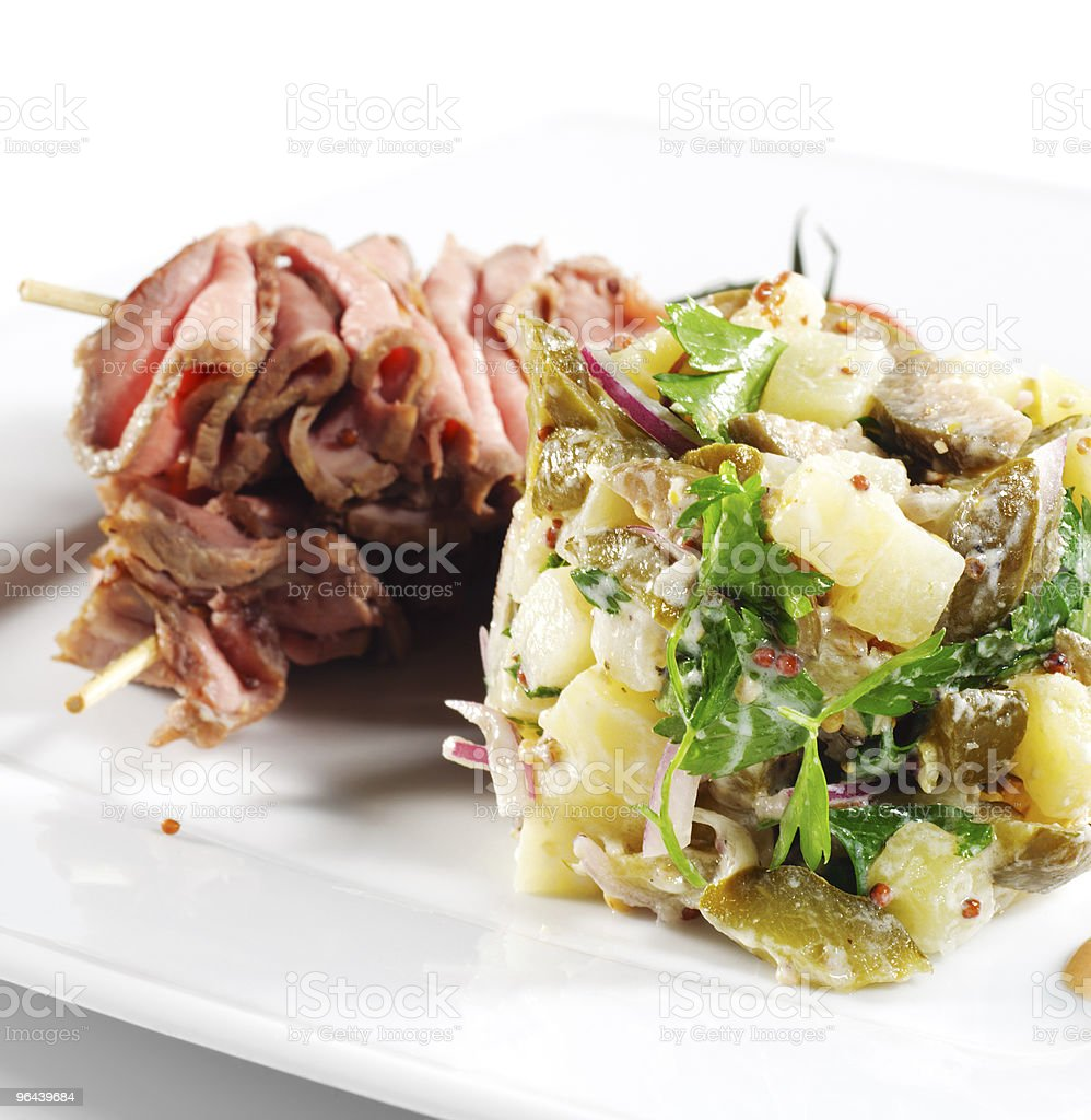 Roast Beef with Salad royalty-free stock photo