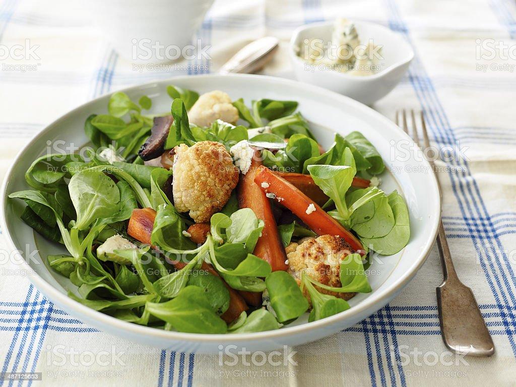 Roast carrot salad royalty-free stock photo