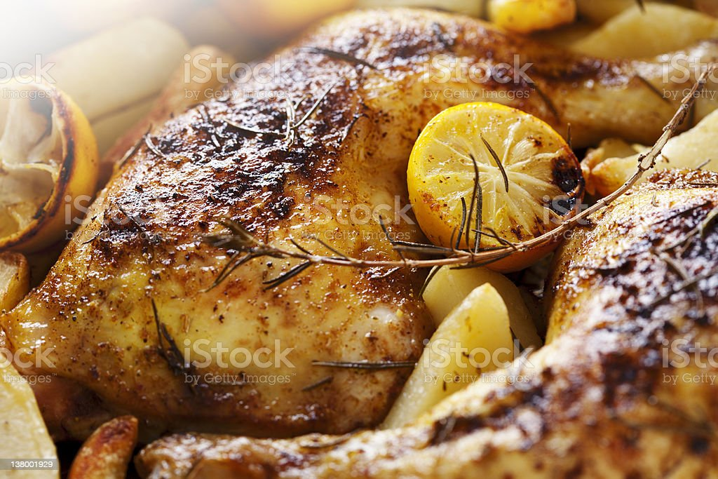 roast chicken stock photo