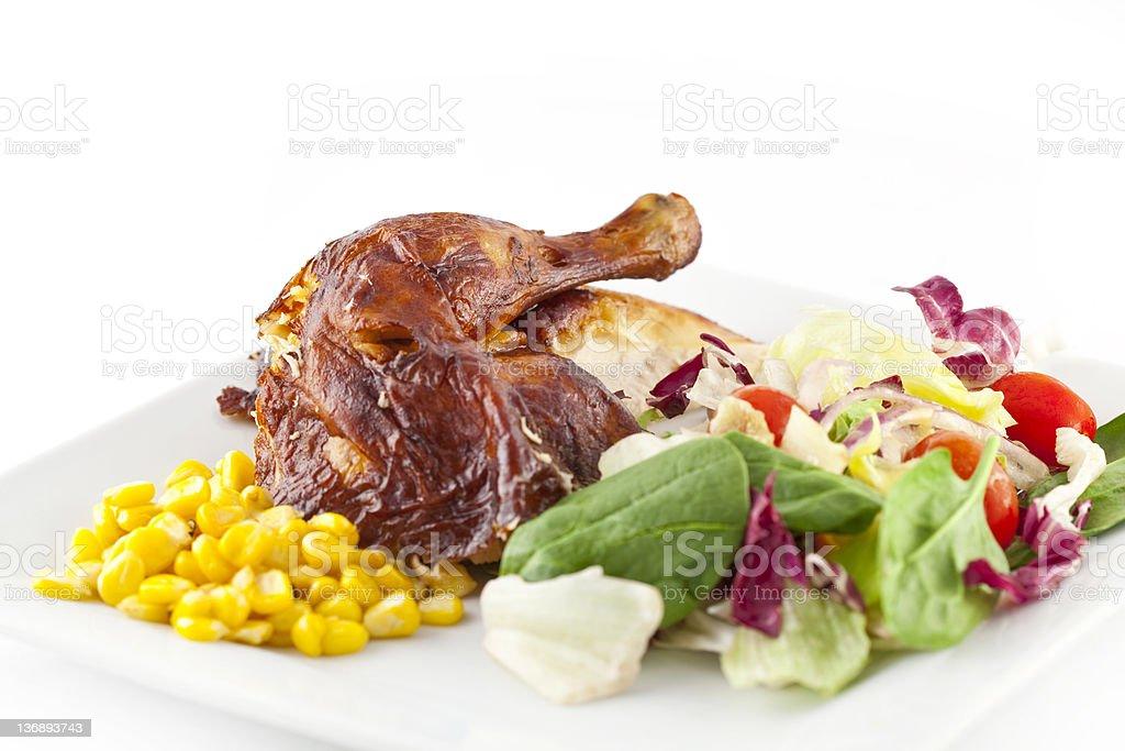 Roast Chicken Salad royalty-free stock photo