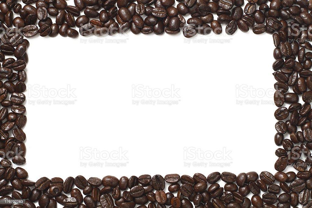 Roast coffee beans frame border royalty-free stock photo