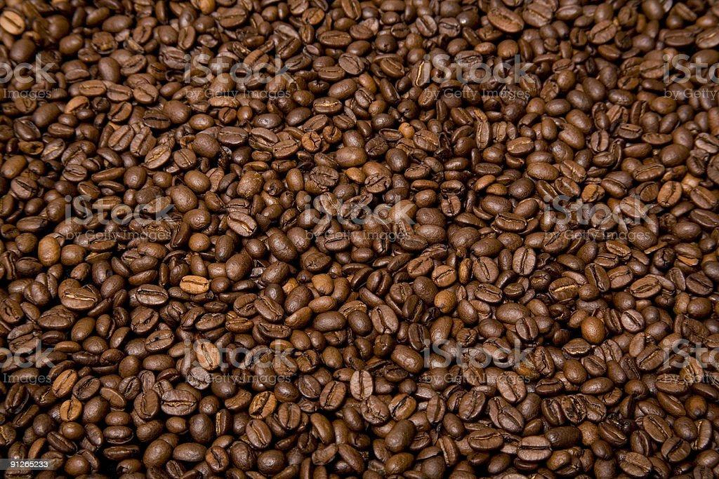 Roast coffee beans royalty-free stock photo