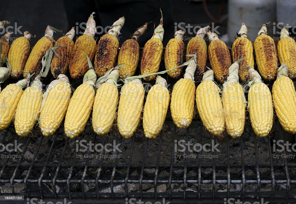 roast corn royalty-free stock photo