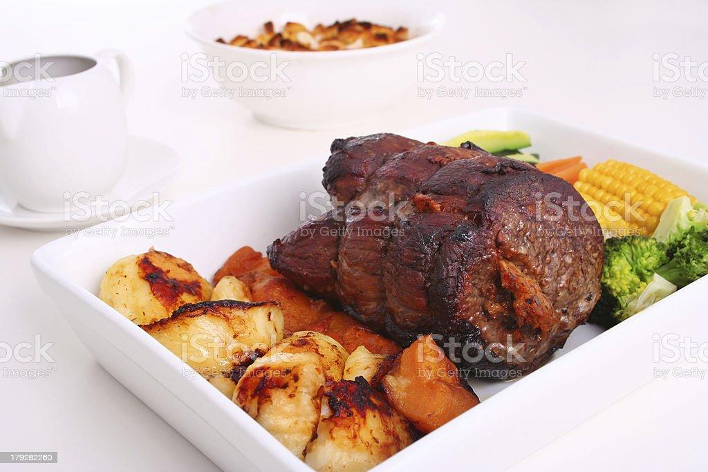 Roast dinner royalty-free stock photo