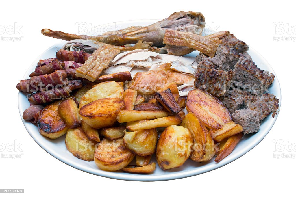 Roast Dinner Serving Platter stock photo