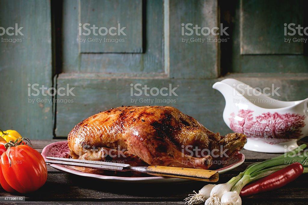 Roast duck stock photo