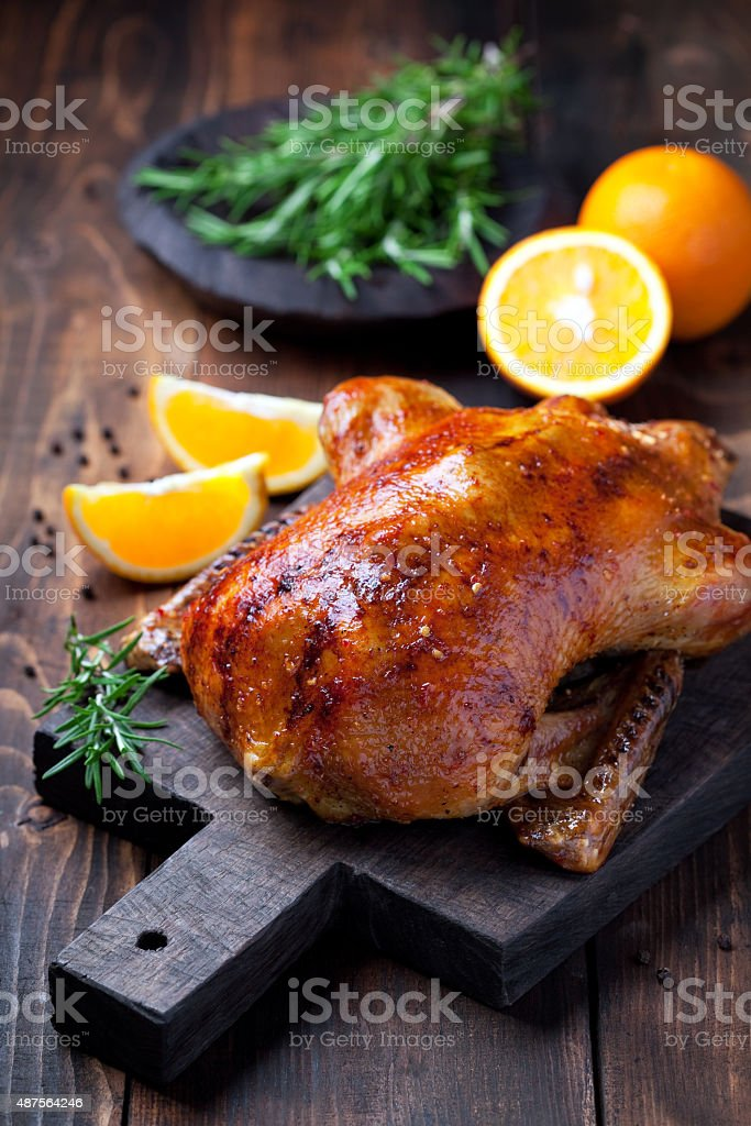 Roast duck stock photo