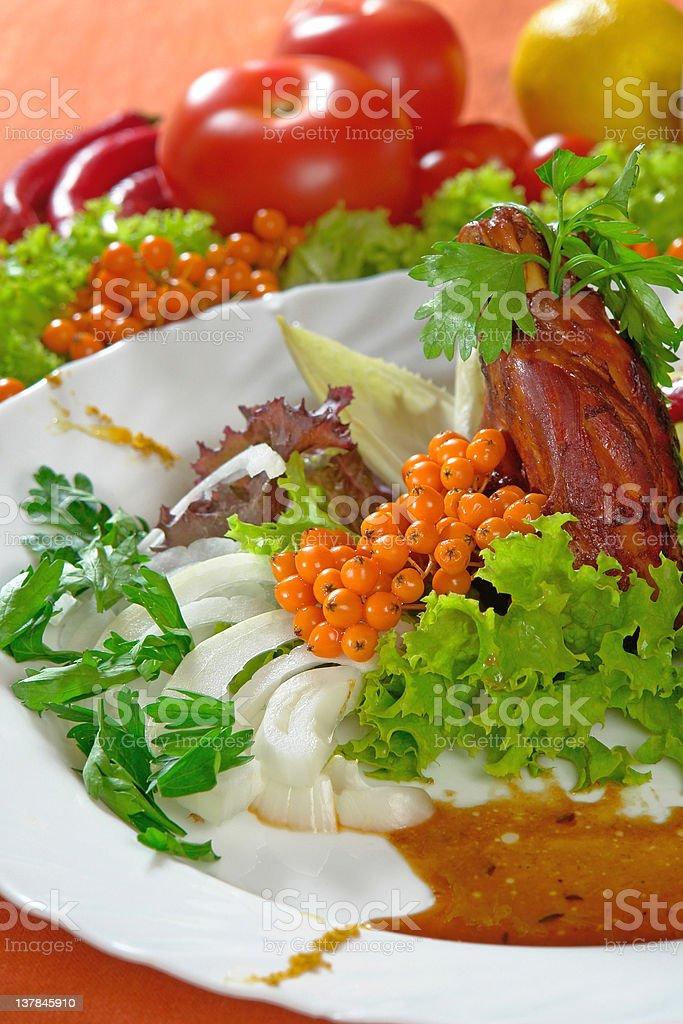 Roast from wild Boar stock photo