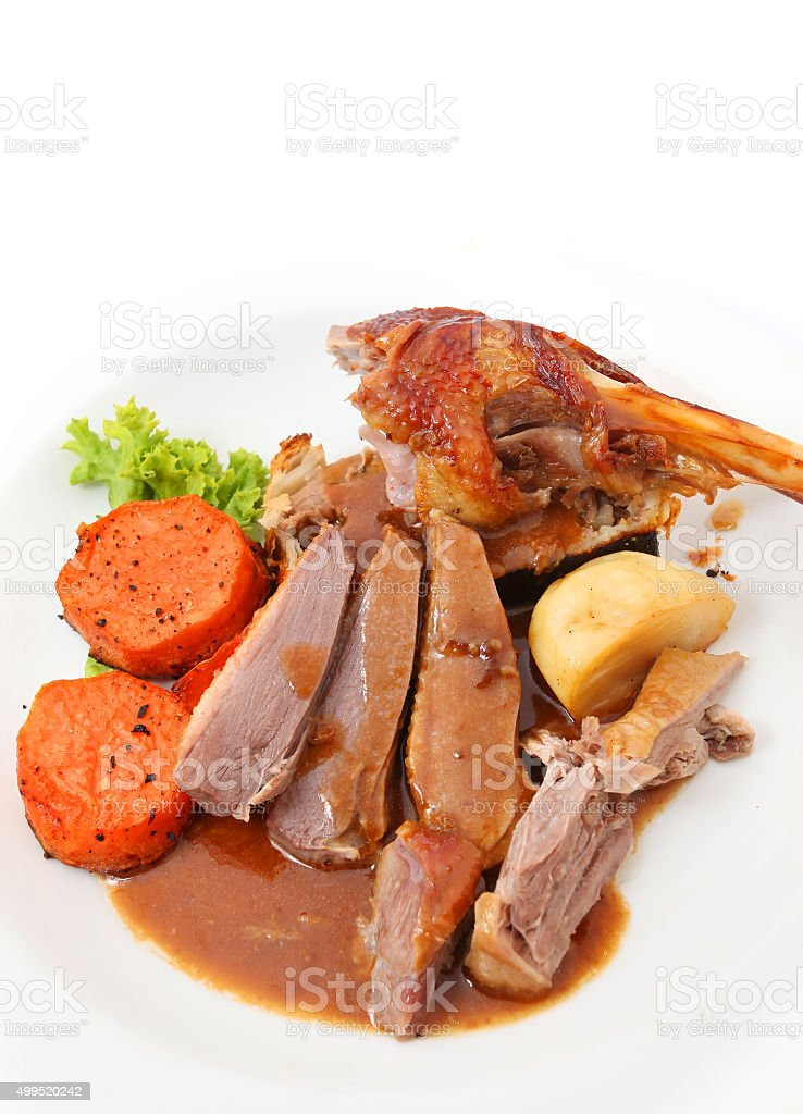 Roast Goose Breast stock photo