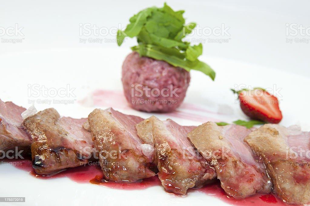 roast goose meat royalty-free stock photo