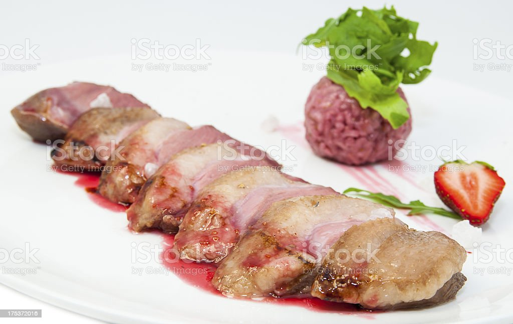 roast goose meat royalty-free stock photo