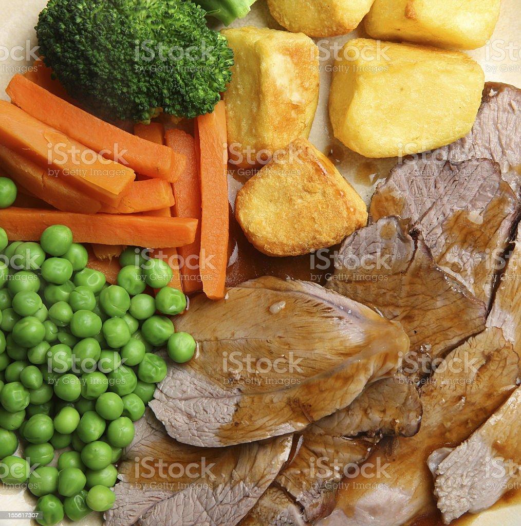 Roast Lamb Dinner royalty-free stock photo