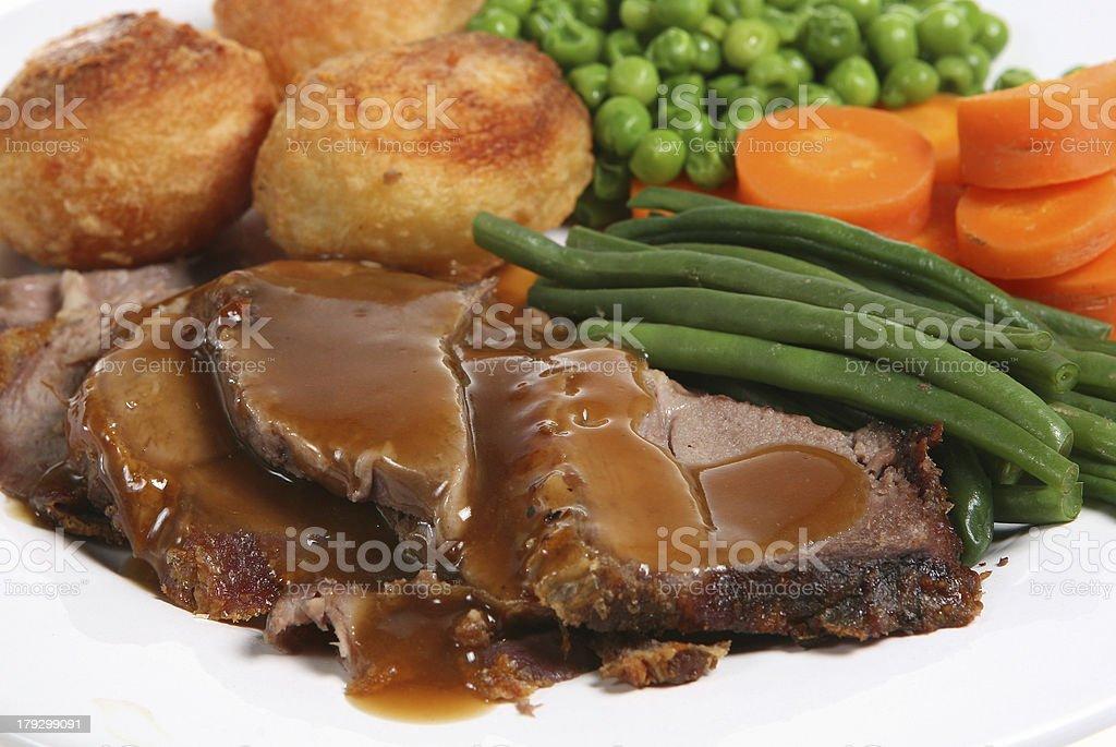 Roast Lamb royalty-free stock photo