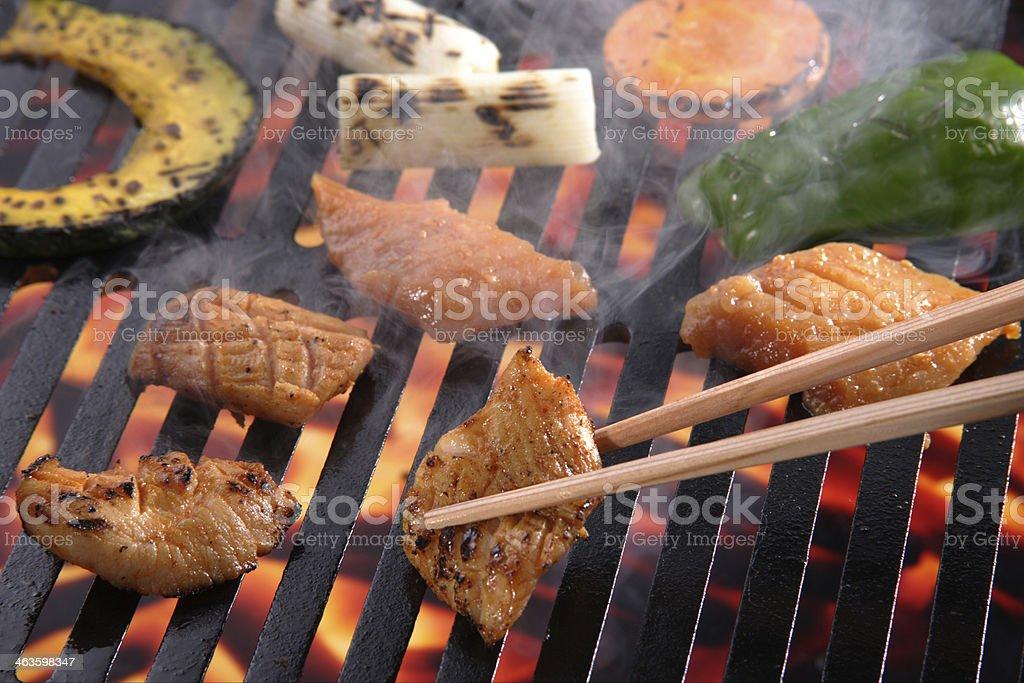 Roast meat (Minot) stock photo
