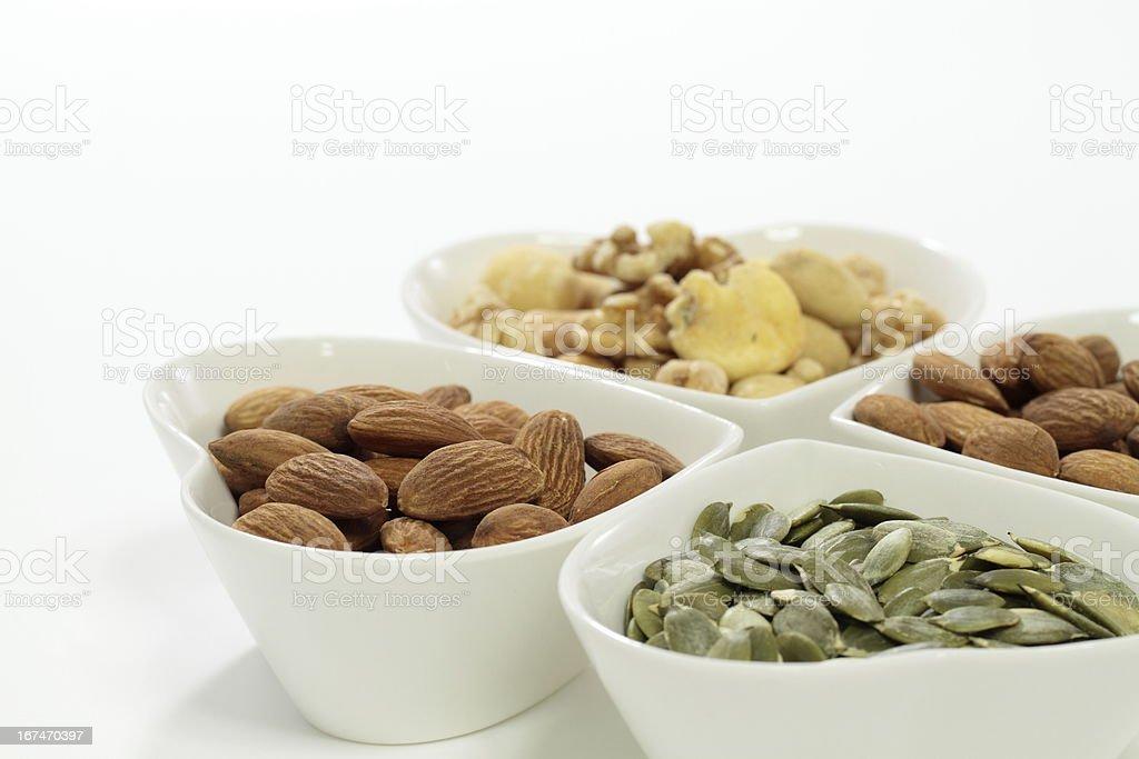 Roast mixture nut stock photo