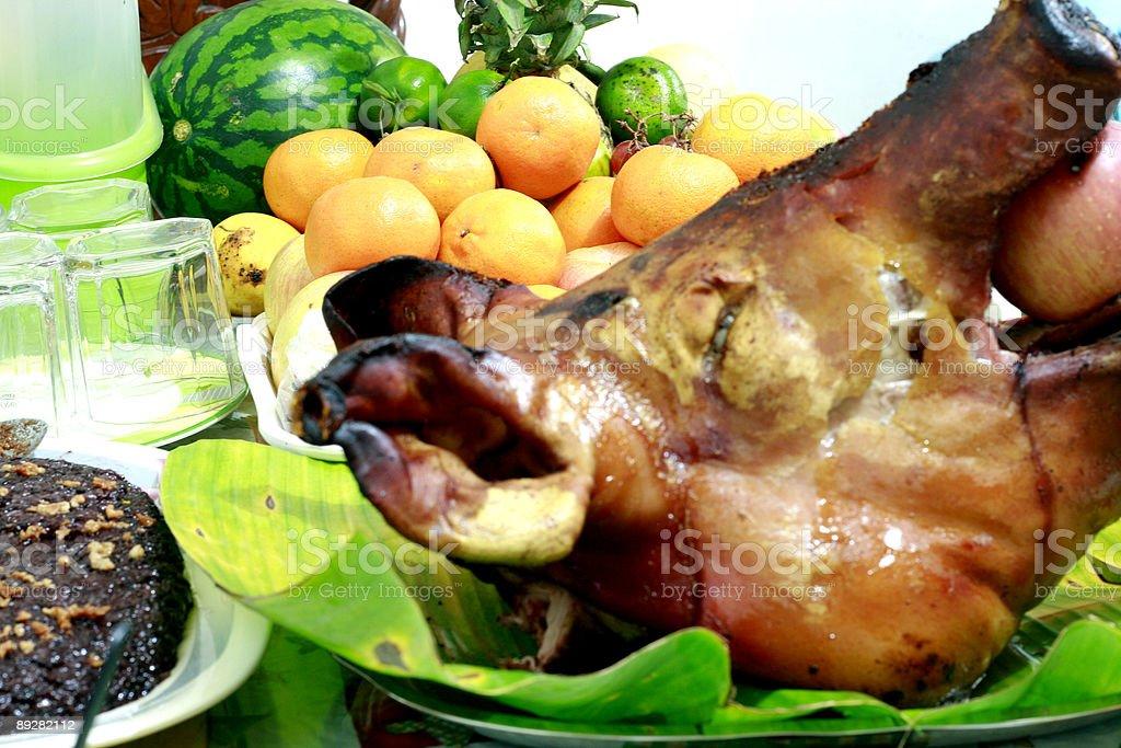 Roast Pig stock photo