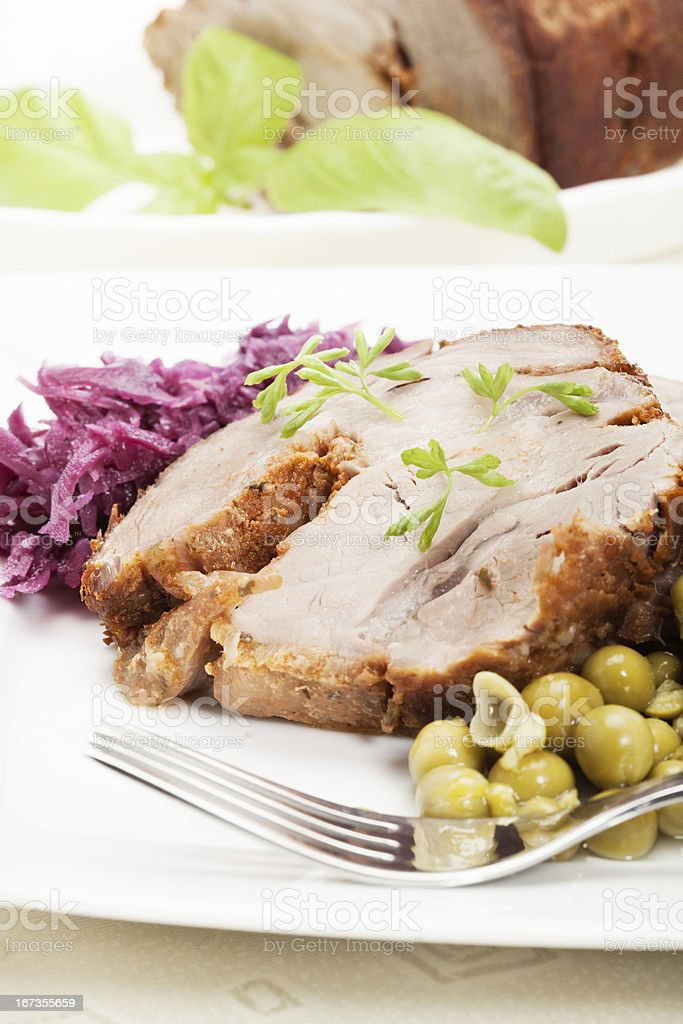 Roast pork royalty-free stock photo